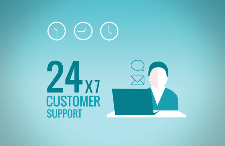 24x7 customer support